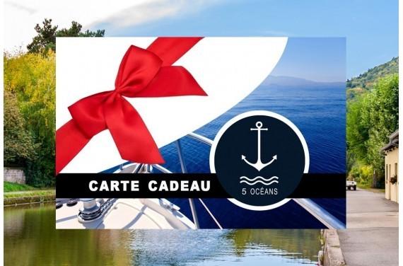 Permis fluvial - Carte cadeau à imprimer 250€ (Au lieu de 350€, Promo du mois d'Octobre jusqu'au 31/10)