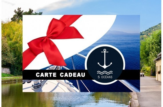 Permis cotier + fluvial - Carte cadeau à imprimer 350€ (Au lieu de 400€,  Promo du mois d'Octobre jusqu'au 31/10)